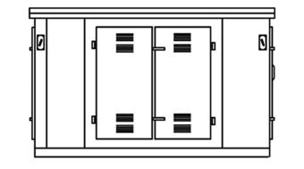 Комплектная трансформаторная подстанция городская (проходная) типа КТПГ 25 1600/10(6)/0,4 У1
