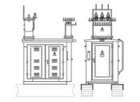 Комплектные трансформаторные подстанции наружной установки типа КТПН 25 1600/10(6) (Тупикового типа)