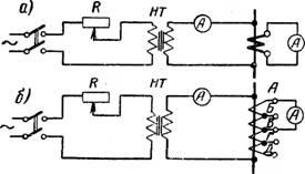 Схема проверки коэффициента трансформации трансформаторов тока